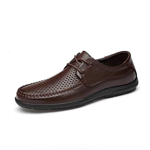 Mens Dress Shoes Formale atmungsaktive Derby Schuhe Sommer Leder Hochzeit Business Schuhe Mezlan Lace-up Oxfords