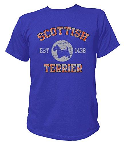 Scottish Terrier T-shirt (Artdiktat Herren T-Shirt - SCOTTISH TERRIER - OLD SCHOOL Est. 1436 Größe S, blau)