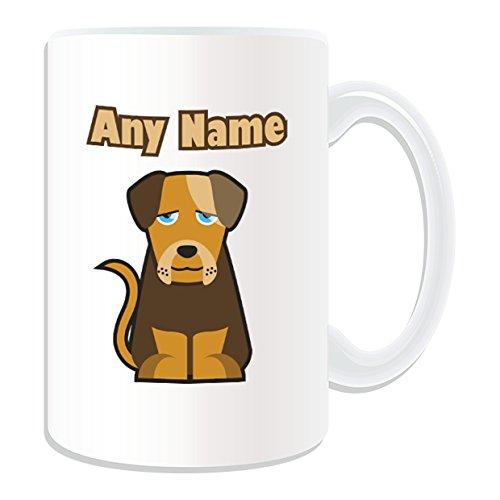 Geschenk personnalisé-grand Tasse, Motiv Bulldogge Thema der Tiere (Englisch) weiß/Namen/Die Botschaft auf dem Tasse unique-chiot (Bulldogge Englische Valentine)