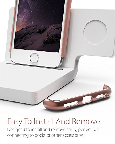 "iPhone 7 Plus hülle, Vena [Mirage][Chrom] Dock-Freundlich Slim-Fit Schutz Hart Case Cover für Apple iPhone 7 Plus (5.5"") - Teal / Rose Gold Rose Gold"