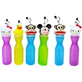 Shopkooky Birthday Gift For Kids/Boys/Girls Cute Mickey Shape Cap Sipper For Kids Return Gifts For Kids Birthday In Bulk (Pack Of 6)