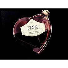 bouteille en forme de coeur liqueur de fraise de Plougastel