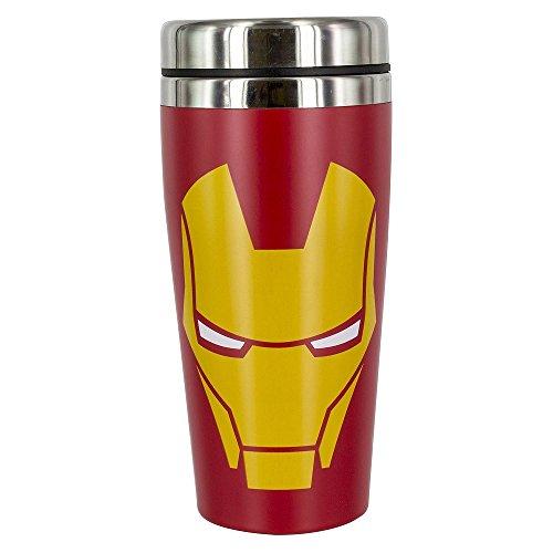Iron Man - Face - Thermobecher - Füllmenge 450 ml | Offizielles Merchandise von Marvel