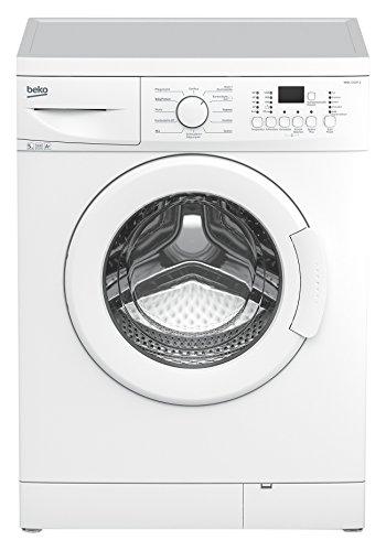 Beko WML 51231 E Waschmaschine Frontlader / A+ / 1200 UpM / 5 kg / weiß / Express - Programm / Mengenautomatik / nur 45 cm tief / Unterbaufähig