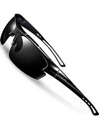 SIPLION Herren Sonnenbrille UV400 Schutz Polarisiert Superleichtes Rahmen