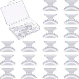 10 Paia 1.8 mm Naselli Per Occhiali Da Vista Cuscinetti Anti-scivolo Adesivo Morbido Silicone Occhiali Naso…