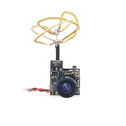 HankerMall FPV Tiny Whoop Cámara 5.8G 40CH 25 MW Transmisor con Triángulo Polarizado Circular Antena Leaf para Blade Inductrix etc.