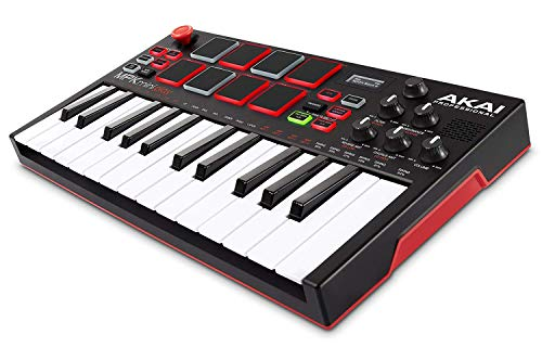 AKAI Professional Mpk Mini Play - Clavier Maître MIDI/USB avec Haut-Parleurs Intégrés, Pads MPC,...
