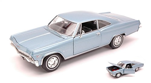 welly-we2417-chevrolet-impala-ss396-coupe-1965-blue-124-modellino-die-cast
