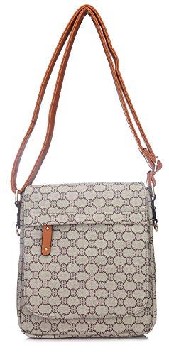 Big Handbag Shop - Borsa a tracolla donna (marrone)
