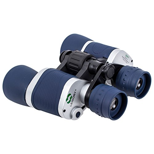 Leidory 7x50mm Fernglas inklusive Tragetasche, blau/grau, Sichtfeld 98-1000m