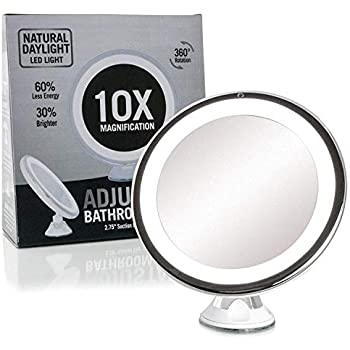 Fancii 10x Magnifying Lighted Makeup Mirror Daylight Led