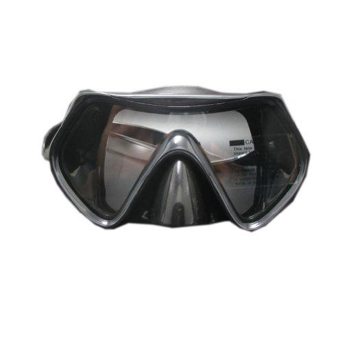 Schnorchelausrüstung Tauchmaske für Erwachsene, Schwarztaucherbrille