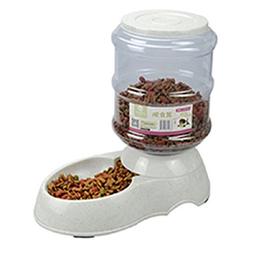lzndeal 3.5L Dispensador de Comida de Mascotas, 3.5L / 11L alimentador automático de Mascotas Fuente de Agua de Gato Perro de plástico de Alimentos Bowl Mascotas dispensador de Agua