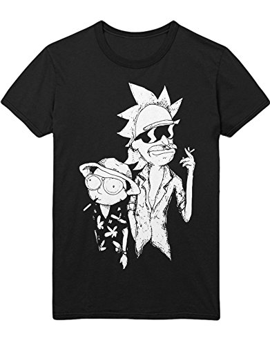 T-Shirt Rick Fear and Loathing C000018 Schwarz S - Adult Swim Shirt