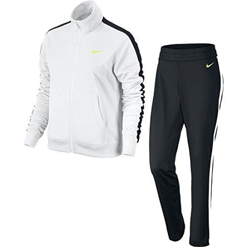 Nike Polyknit Tracksuit Tuta, White/Black/Black/Volt, M