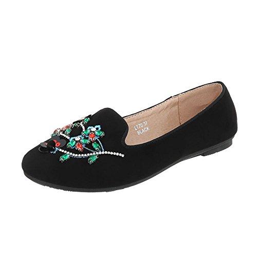 Pantofola Scarpe Da Donna Pantofola Pantofola Pantofola Ital-design Mocassino Nero Lt70