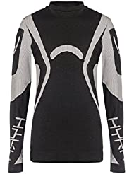 Hyra hji9428, Camiseta Manga Larga Unisex Niños, Hji9428, negro, gris