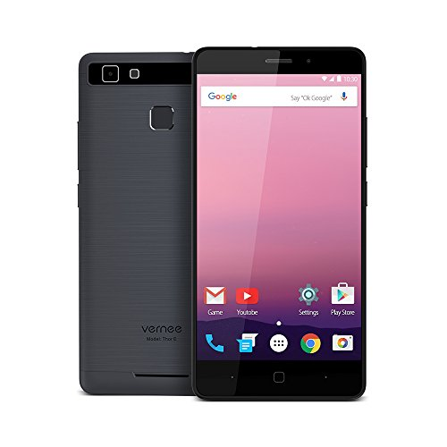 "Vernee Thor E 4G Smartphone MTK6753 64bits 3GB + 16GB 1.3GHz Octa Core Android 7.0 5.0"" On-cell HD 1280 * 720 Pixels Écran VOS 5MP + 13MP Housse en Métal Brossé OTG Fast Charge Power Saving"