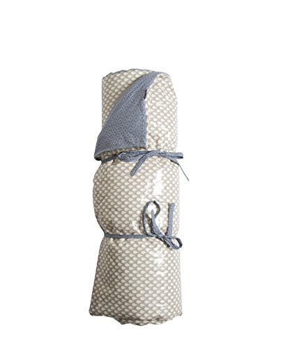 A.U Maison - Picknick Decke Taupe Tropfen / Tauben Blau 70x180 cm
