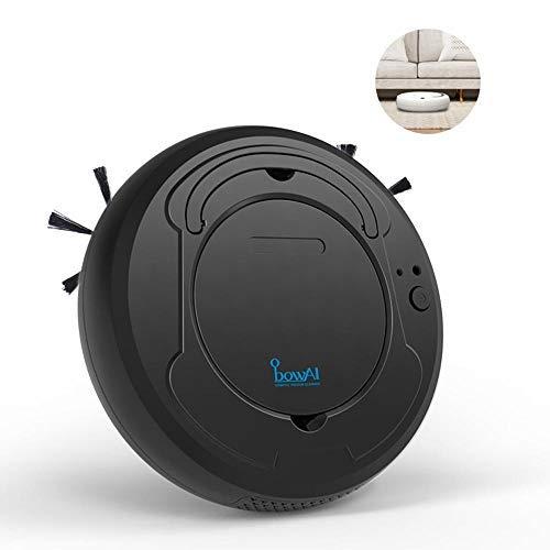 leegoal Aspirador de Robot 3 en 1, Barredora robótica Inteligente de Uso doméstico con Limpieza/succión Fuerte/sensores súper silenciosos/Inteligentes para el Cabello de Mascotas, alfombras, baldosas