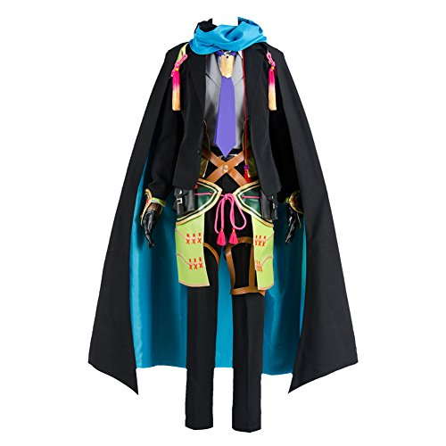 Schwarz Kostüm Token - Token Touken Ranbu Koryuu Kagemitsu Cosplay Kostüm Outfit Kleid Uniform Kimono Herren XL
