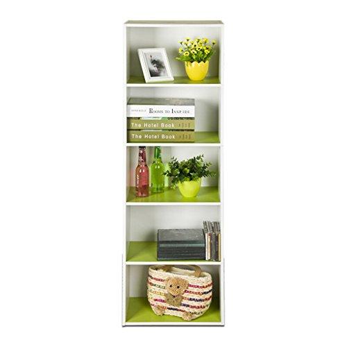 Fashion 5-stöckige Multi-Funktionale Lagerung Bücherregale, Wohnzimmer, Schlafzimmer, Studie, hölzerne große Space Storage Regale (Color : Green)