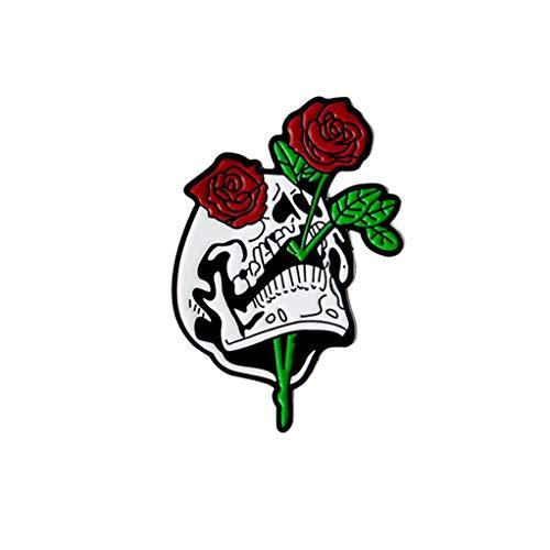 (SEVENHOPE Scary Brosche Halloween Schmuck Vintage Dekor (Rose))