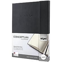 Sigel CO151 Notizbuch, ca. A4, kariert, Hardcover, schwarz, mit Magnetverschluss, CONCEPTUM - weitere Größen