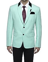 Favoroski Slim Fit Formal/Party Men's Blazer Casual Single Breasted Tuxedo Blazer With Velvet Notch Lapel Collar