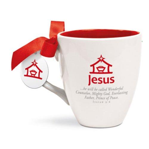 LCP Jésus Tasse en céramique rouge intérieur et Isaïe 9 : 6 il va être appelée \\