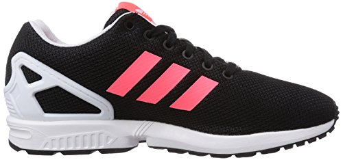 adidas Zx Flux, Baskets Basses femme Schwarz (Core Black/Flash Red S15/Ftwr White)