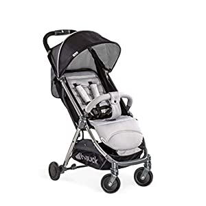 Hauck Swift Plus, Compact Pushchair with Lying Position, Extra Small Folding, One Hand Fold, Lightweight, Carrying Strap, from Birth Up To 15 kg, Silver/Charcoal   2