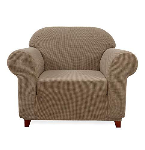 Subrtex a Quadretti copridivano Copridivano Poltrona Rivestimento Stretch husse copridivano Couch husse con Angoli Elasticizzati in Diversi Colori, Sabbia, Poltrona