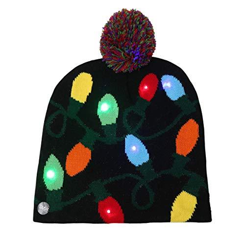Jinxuny - Gorro de Navidad con Luces LED