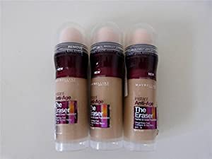 3 x Maybelline New York The Eraser Instant Anti-Age Foundation Sealed - 021 Nude