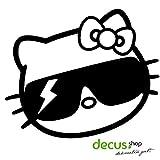 Hello Kitty GAGA // Sticker OEM JDM Style Aufkleber (schwarz)