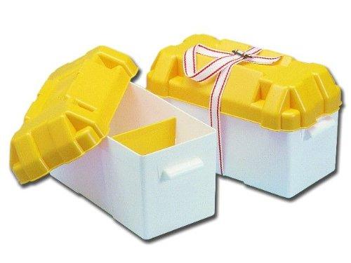 Batteriekasten mit Trennplatte und Befestigungsgurt