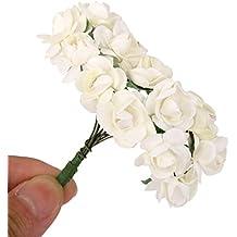 144 unids mini ramo de flores color blanco