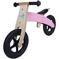 Labebe Bicicleta Equilibrio Rosa, Bicicleta Pedales Bebé con Asiento Ajustable, para Niños de 18 Meses a 3 Años, Bicicleta Pedales Rosa/Bicicleta Pedales Niño 2 a 5 Año/Bicicleta Equilibrio Madera