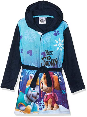 Preisvergleich Produktbild Nickelodeon Mädchen Bademantel PAW Patrol Best IN Snow Blue 19-4024tc,  5 Jahre