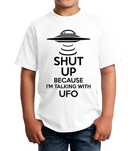 b816d6dd87b Shut Up Because I Am Talking with UFO Kids Unisex T-Shirt 5-13