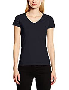 Fruit of the Loom Damen Lady-Fit Valueweight V-neck T 61-398-0 Deep Navy XS