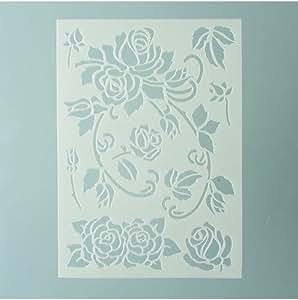 Efco Pochoir roses dans 7designs, en plastique, transparent, A5