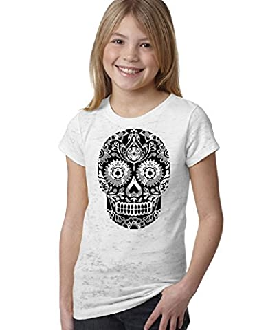 Large Candy Skull GIRLS FIT Kids All Over T Shirt