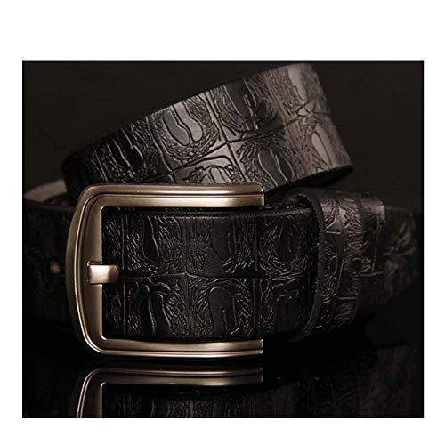 aoliaoyudonggha Womens Leather Belts Carved Design Retro Metal Strap Belts Print Reversible Belt