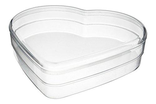 Pioneer Plastics - recipiente de plástico de alta calidad, seguro para alimentos, en forma de corazón, conjunto de tres piezas, 15cm x 3,5cm
