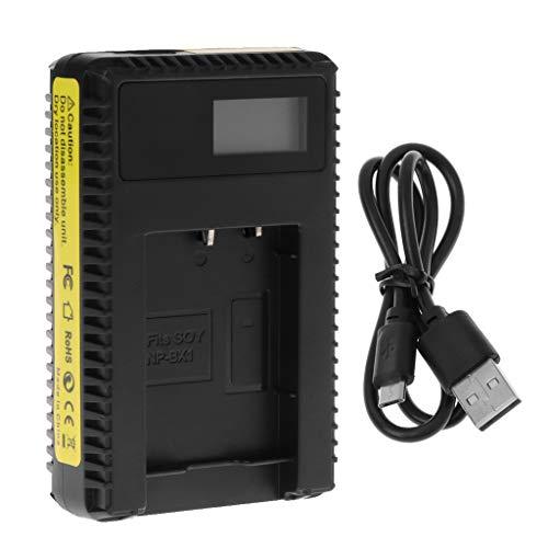 Preisvergleich Produktbild Nankod Ladegerät Mit USB-Kabel LCD-Display Single Slot Für Sony RX100 / AS15 / H400 / HX300 / HX90 / HDR / AS10 / AS20