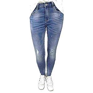 Jewelly by Lexxury Jeans vorne blau detail