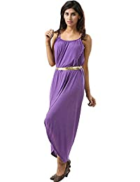 Adorable Purple Sexy Summer Bohemian Dress Irregular Women Beach Dresses Pleated Skirt Fashion Vintage Maxi Belt Casual Ladies Girl Club Party Skirt